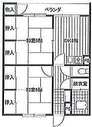 泰成マンション[4階]の間取り