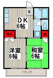 シャトレヤマノ[2階]の間取り