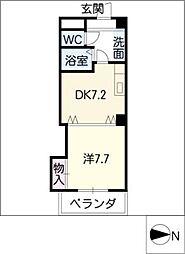 メゾンバリエ[5階]の間取り