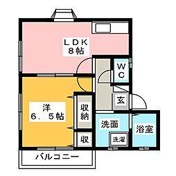 サンピュアYOU[1階]の間取り