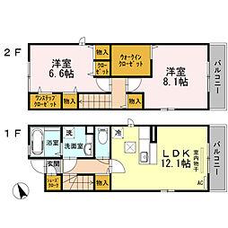 アザレアYガーデン Droom 12a[2階]の間取り