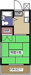 契約金32400円、フレンドハイツ[2階]の間取り