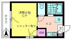 グリーンヒル21[1階]の間取り