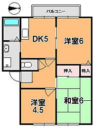 フロレスタ高円[2階]の間取り