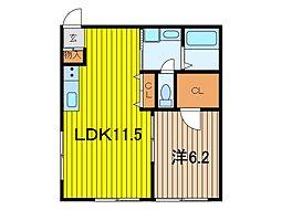 レジデンシア浦和皇山町[2階]の間取り