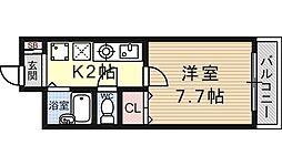 南滋賀ヒューマンハイツ[201号室号室]の間取り
