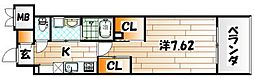 ウィングス西小倉[3階]の間取り