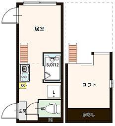 """(仮称)千住東1丁目A""""Neo""""AVAND(ネオアヴァンド) 1階ワンルームの間取り"""