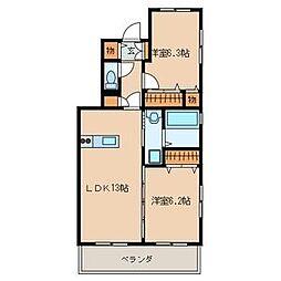 ステラ武蔵[2階]の間取り