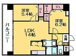 スカイシャトレ柚須[2階]の間取り