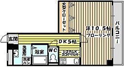 金川マンション[1階]の間取り