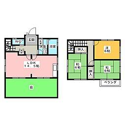 [一戸建] 愛知県清須市西枇杷島町下新 の賃貸【/】の間取り