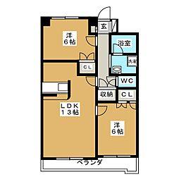東仙台五番館[3階]の間取り