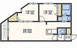 リュクスN22[4階]の間取り