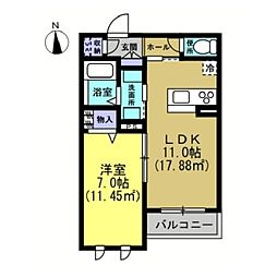 仮)川崎区藤崎1−1シャーメゾン[203号室]の間取り