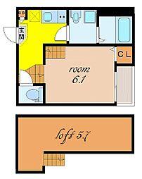 stage四番[2階]の間取り