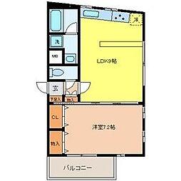 東京都葛飾区奥戸9丁目の賃貸マンションの間取り