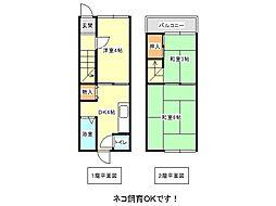 [テラスハウス] 兵庫県神戸市垂水区泉が丘3丁目 の賃貸【兵庫県 / 神戸市垂水区】の間取り