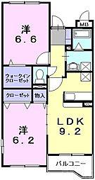 泉北高速鉄道 泉ヶ丘駅 徒歩13分の賃貸マンション 1階2LDKの間取り