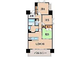 シャルマンフジスマート和歌山城公園1301号[13階]の間取り