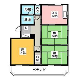 コスタ草薙[3階]の間取り