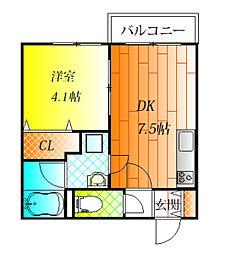 近鉄南大阪線 藤井寺駅 徒歩3分の賃貸アパート 1階1DKの間取り