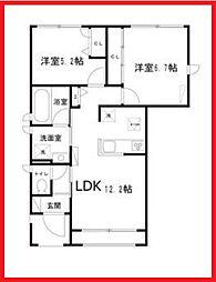東京都葛飾区金町2丁目の賃貸アパートの間取り