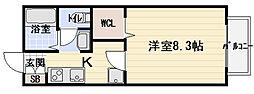 シャルム神木[1階]の間取り