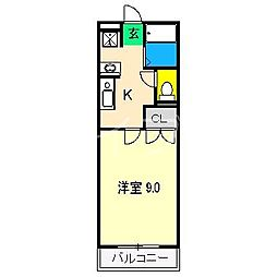 エントランスパークビル[2階]の間取り