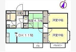コートグランディア西新井[2階]の間取り