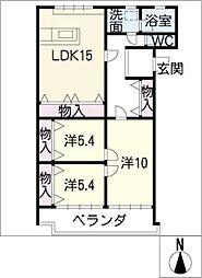 ダイイク2[2階]の間取り