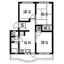 第1ますやマンション[3階]の間取り