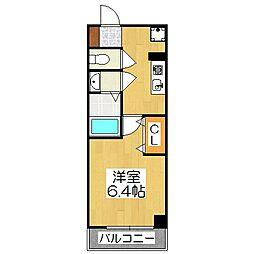 アルティスタ祇園[3階]の間取り