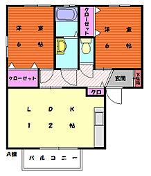ソレイユ三苫[2階]の間取り
