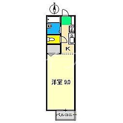 アサヒハイツ[1階]の間取り
