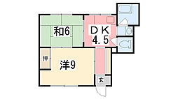 兵庫県姫路市手柄の賃貸マンションの間取り