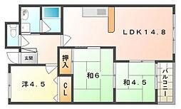 バーン・フリート大和田[7階]の間取り