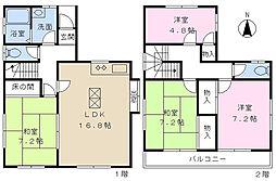 JR京浜東北・根岸線 西川口駅 バス29分 吉岡下車 徒歩3分 4LDKの間取り