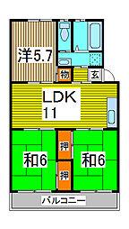 第2末広マンション[2階]の間取り