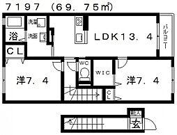 シャーメゾン ピーチコート[202号室号室]の間取り
