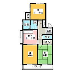 東山ハイツ[1階]の間取り