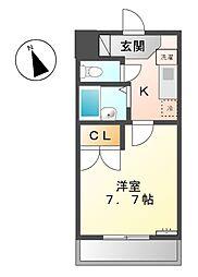 愛知県稲沢市北市場本町2丁目の賃貸マンションの間取り