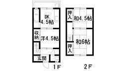 [テラスハウス] 兵庫県伊丹市荻野8丁目 の賃貸【/】の間取り