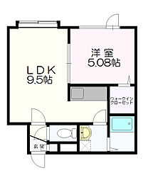 札幌市営東西線 南郷18丁目駅 バス7分 北野3条3丁目下車 徒歩5分の賃貸アパート 3階1LDKの間取り