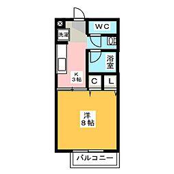 静岡県焼津市大村新田の賃貸アパートの間取り