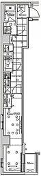 JR総武線 錦糸町駅 徒歩7分の賃貸マンション 2階1Kの間取り