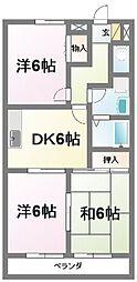 プレヤーデンB[2階]の間取り