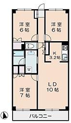 アドミラルブルン成城[2階]の間取り