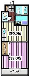 埼玉県さいたま市南区別所6丁目の賃貸アパートの間取り