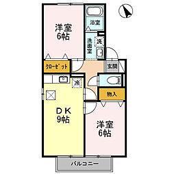 ラコンテ東通[105号室]の間取り